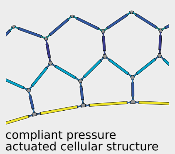 Compliant pressure actuated cellular structure (c)