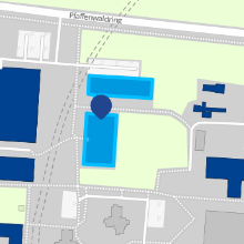 Small map cutout of institute location